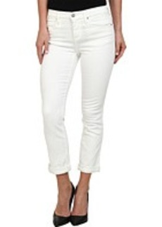DKNY Jeans Soho Skinny Rolled Crop in White