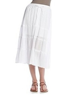 DKNY JEANS® Solid Woven Maxi Skirt