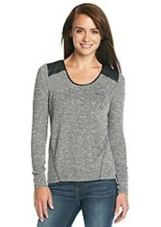DKNY JEANS® Sweater With Faux Leather And Lurex