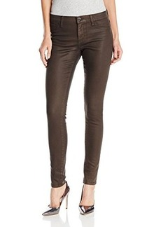 DKNY Jeans Women's Ave B Ultra Skinny Coated Dark Moss Jean