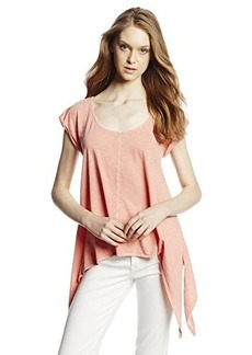 DKNY Jeans Women's Battenburg Lace Sharkbite Tee