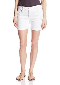 DKNY Jeans Women's Destructed Bleecker Boyfriend Short-White