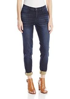 DKNY Jeans Women's Knit Boyfriend Flex Wash Jean