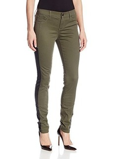 DKNY Jeans Women's Legging with Black Faux Suede Piecing