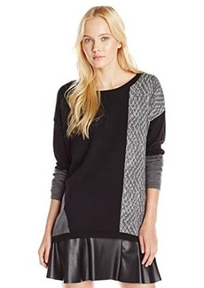 DKNY Jeans Women's Pieced Animal Colorblock Tunic