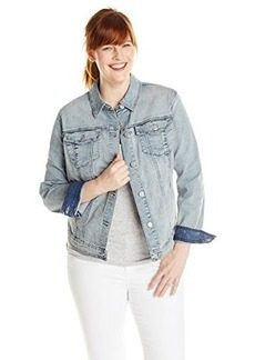 DKNY Jeans Women's Plus-Size Denim Scorched Indigo Jacket