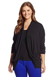 DKNY Jeans Women's Plus-Size Solid Two Pocket Cardigan