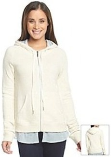 DKNY JEANS® Zip Front French Terry Knit Hooded Sweatshirt