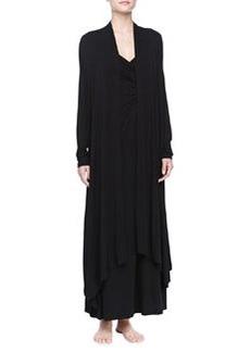 Liquid Jersey Wrap Robe, Black   Liquid Jersey Wrap Robe, Black