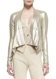 Long-Sleeve Cozy Leather Jacket   Long-Sleeve Cozy Leather Jacket