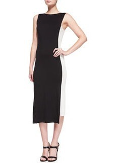 Sleeveless Uneven-Hem Sheath Dress   Sleeveless Uneven-Hem Sheath Dress