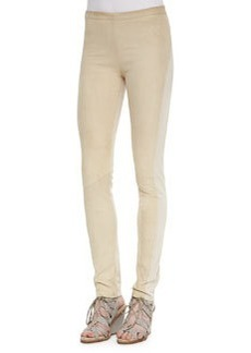 Suede-Front Paneled Pants   Suede-Front Paneled Pants