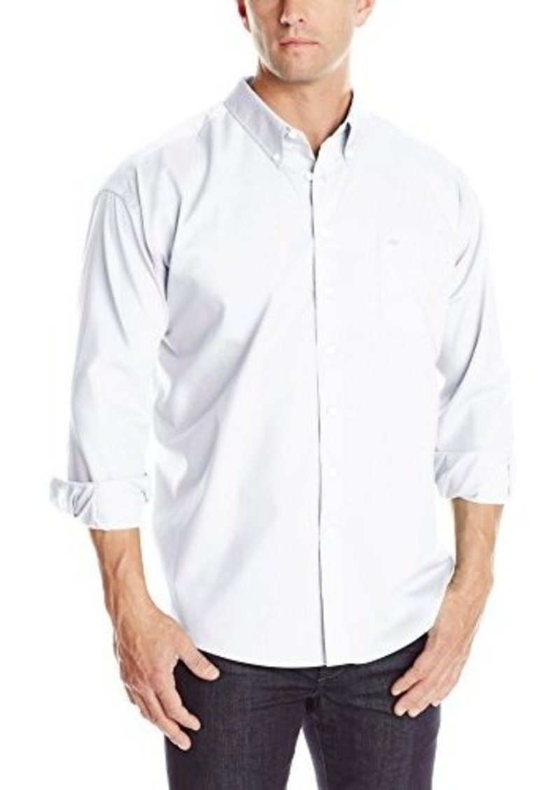 Dockers dockers men 39 s big tall solid woven button front for Men s big tall shirts