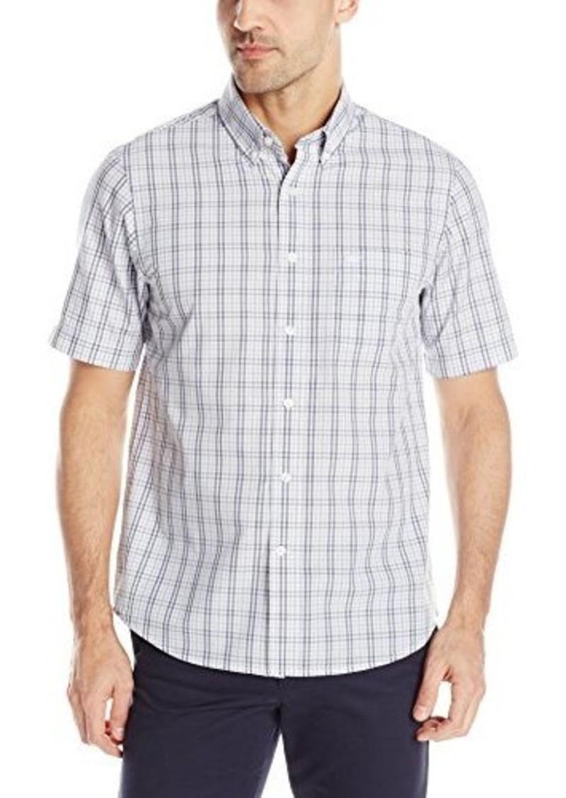 dockers dockers men 39 s woven short sleeve plaid shirt