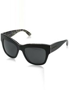 D&G Dolce & Gabbana Women's Almond Flowers Square Sunglasses, Black