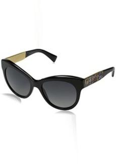 D&G Dolce & Gabbana Women's Mosaico Collection Polarized Round Sunglasses
