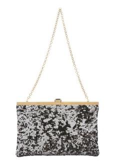 Dolce & Gabbana black and silver sequined satin chainlink shoulder bag