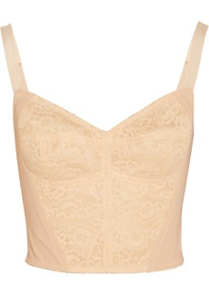 Dolce & Gabbana Boned lace and stretch-mesh bustier