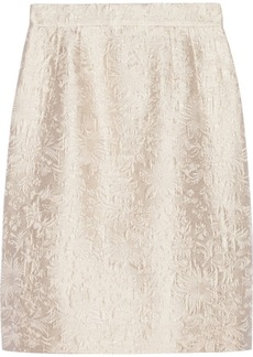 Dolce & Gabbana Cotton and silk-blend jacquard skirt