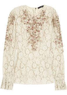 Dolce & Gabbana Embellished lace top