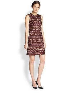 Dolce & Gabbana Key-Print Brocade Shift Dress