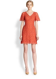 Dolce & Gabbana Lace Flutter-Sleeve Dress