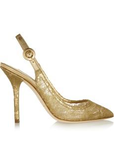 Dolce & Gabbana Lace slingback pumps