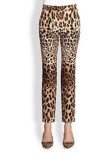 Dolce & Gabbana Leopard Print Pants