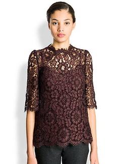 Dolce & Gabbana Scalloped Lace Top