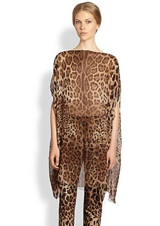 Dolce & Gabbana Silk Leopard Print Tunic