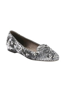 Dolce & Gabbana silver sequin appliqed loafers