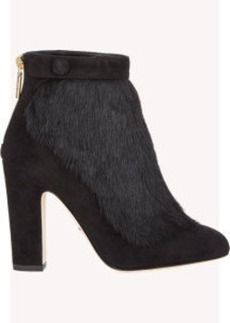 Dolce & Gabbana Suede & Haircalf Ankle Boots