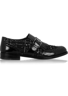 Dolce & Gabbana Tweed and patent-leather brogues
