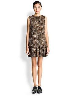 Dolce & Gabbana Tweed Drop-Waist Dress