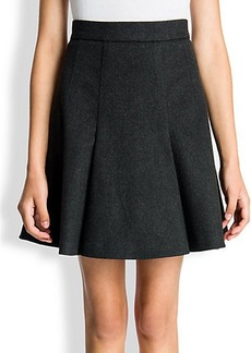 Dolce & Gabbana Wool Cashmere Pleated Skirt