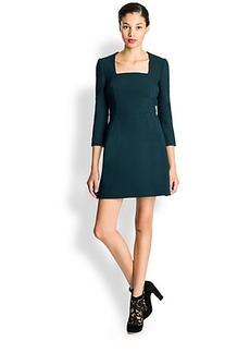 Dolce & Gabbana Wool Crepe Square Neck Dress