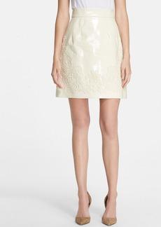 Dolce&Gabbana Embellished Patent Leather Skirt