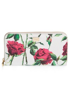 Dolce&Gabbana Floral Print Leather Wallet