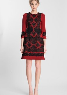 Dolce&Gabbana Lace Appliqué Crepe Dress