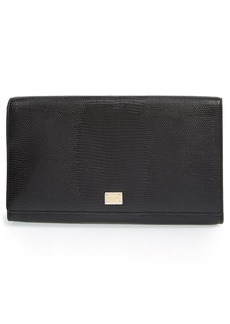 Dolce&Gabbana 'Oversized Day' Lizard Embossed Clutch