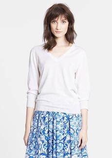 Dolce&Gabbana V-Neck Cashmere & Silk Sweater