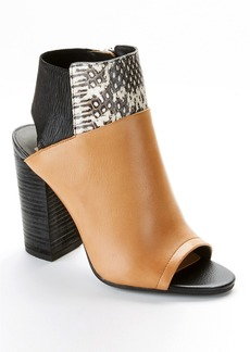 Dolce Vita + Leather Open-Toe Ankle Shooties