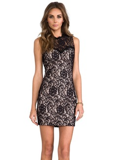 Dolce Vita Abrianna Stretch Floral Lace Dress in Black