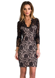 Dolce Vita Annabel Stretch Floral Lace Dress in Black