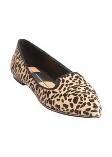 Dolce Vita black and brown leopard print calf hair flats