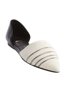 Dolce Vita black and white snake embossed leather d'orsay 'Adalynn' pumps