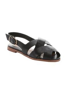 Dolce Vita black leather 'Bay' peep toe sandals