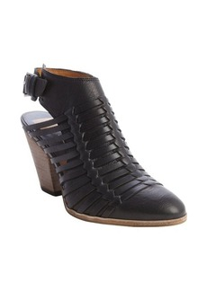 Dolce Vita black leather 'Harolyn' strappy woven ankle boots