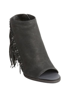 Dolce Vita black leather tassel and chain detail 'Noralee' heel booties
