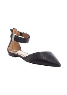 Dolce Vita black snake leather 'Agusta' ankle strap flats